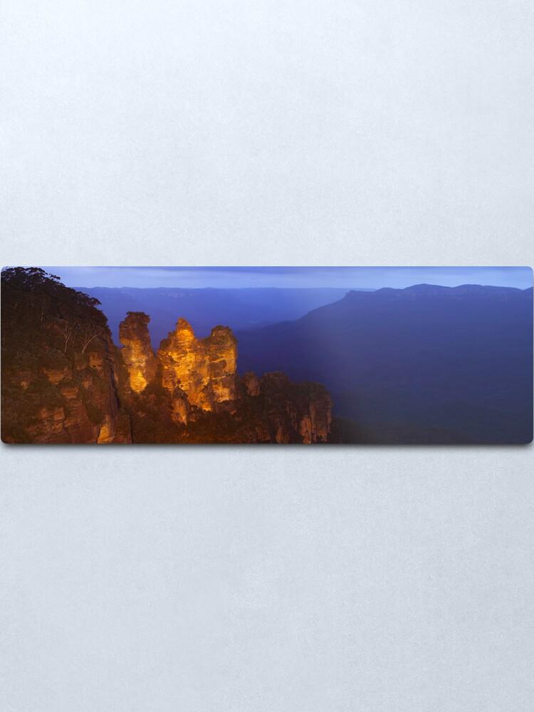 Alternate view of Three Sisters Dusk, Blue Mountains, Australia Metal Print