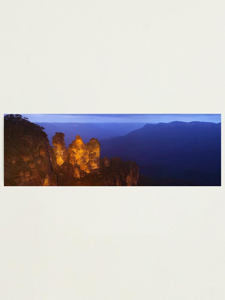 Alternate view of Three Sisters Dusk, Blue Mountains, Australia Photographic Print