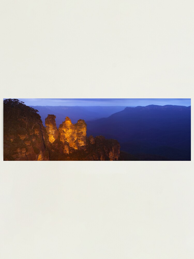 Alternate view of Three Sisters Dusk, Blue Mountains, Australia Photographic Print