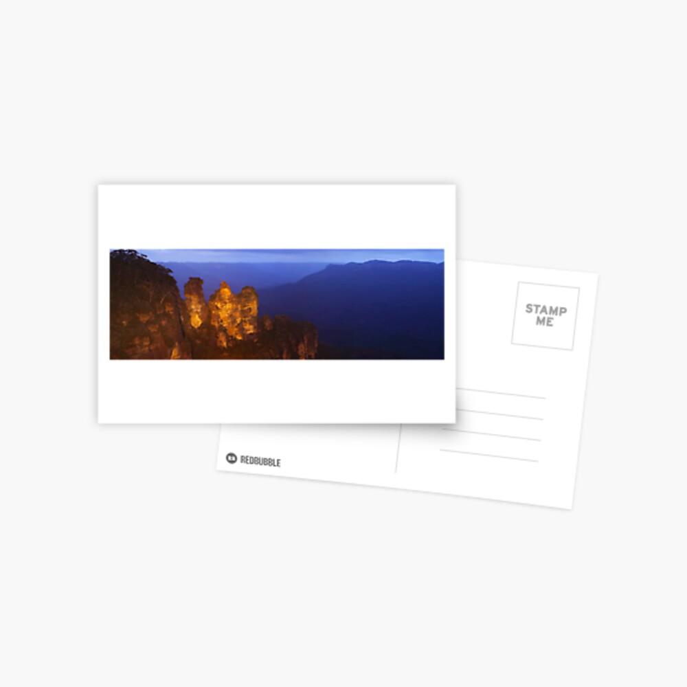 Three Sisters Dusk, Blue Mountains, Australia Postcard