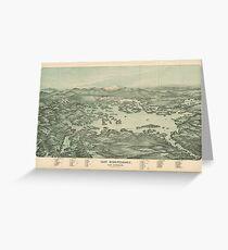 Vintage Pictorial Map of Lake Winnipesaukee (1903)  Greeting Card