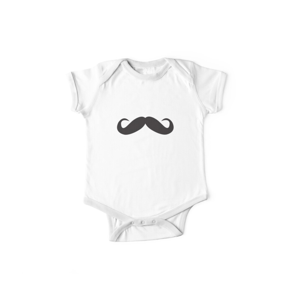 Moustache baby tshirt by creativemonsoon