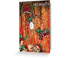 Elf Awaits Greeting Card
