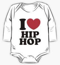 """I Heart Hip Hop"" One Piece - Long Sleeve"
