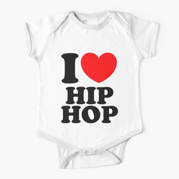 """I Heart Hip Hop"" Short Sleeve Baby One-Piece"