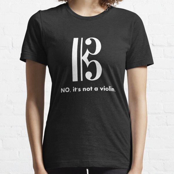Alto Clef - NO, It's Not a Violin. (White Inverse) Essential T-Shirt