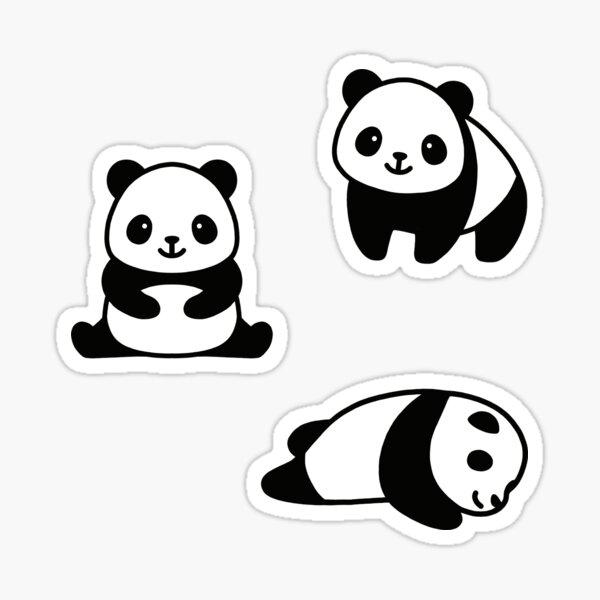 Three Pandas Sticker