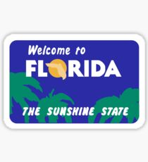 Welcome to Florida, Road Sign, USA  Sticker