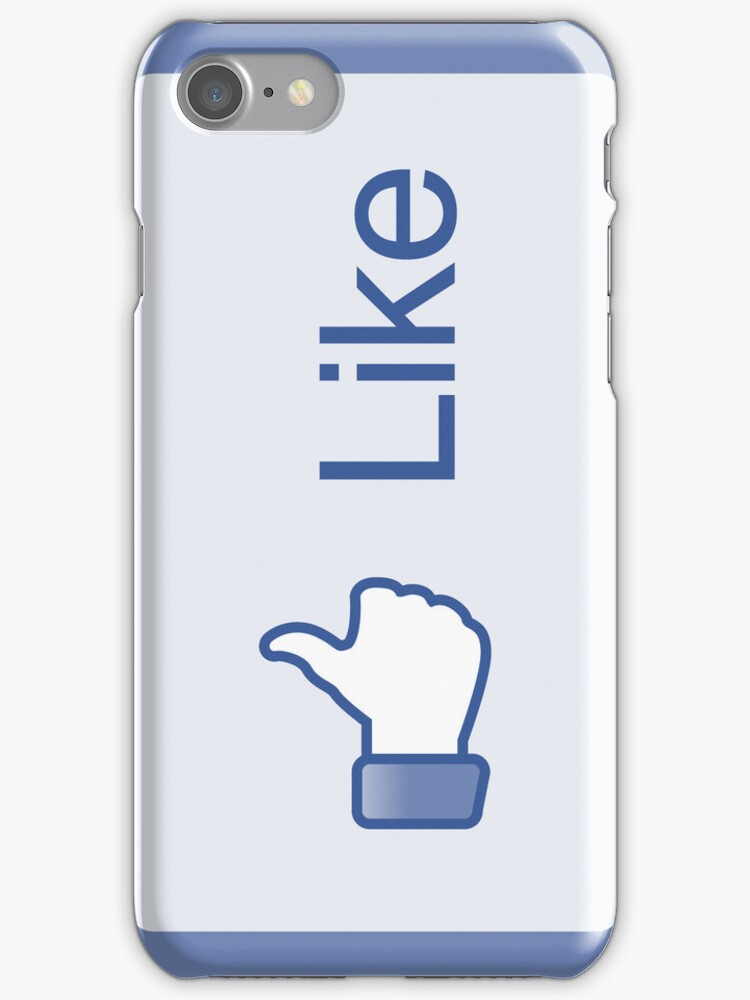 Facebook Like Button - iPhone Case by likebutton