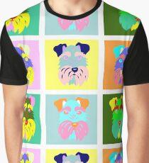 Schnauzer Pop Art Graphic T-Shirt