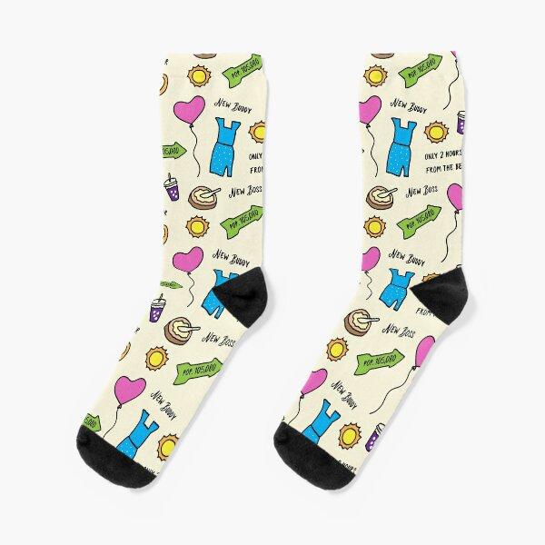 West Covina design inspired by Crazy Ex-Girlfriend Socks