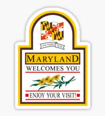 Pegatina Welcome to Maryland, Road Sign, USA