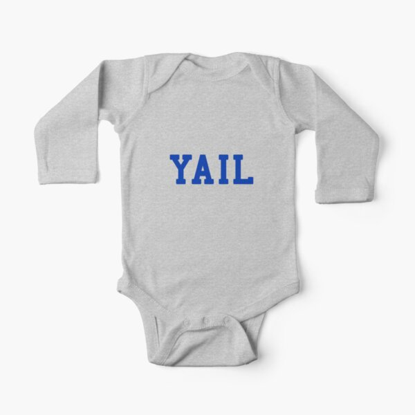 YAIL (blue letters) Long Sleeve Baby One-Piece