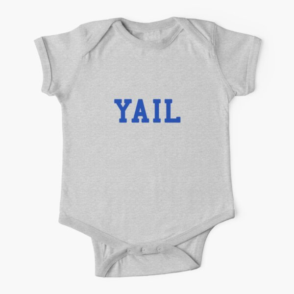 YAIL (blue letters) Short Sleeve Baby One-Piece
