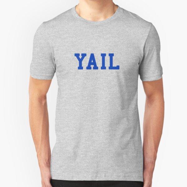 YAIL (blue letters) Slim Fit T-Shirt