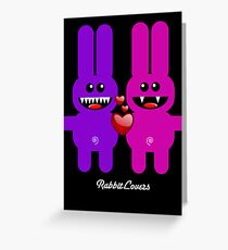 RABBIT LOVERS Greeting Card
