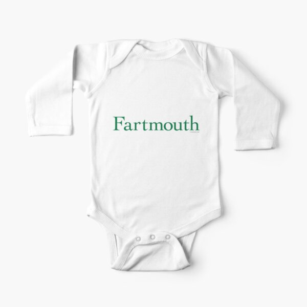 Fartmouth University Long Sleeve Baby One-Piece