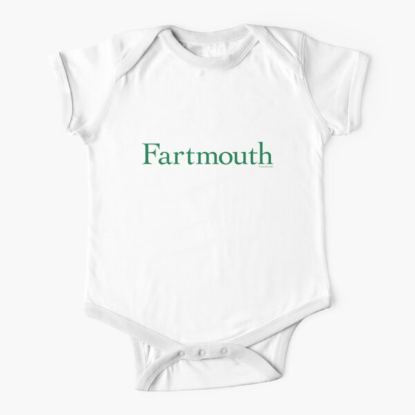 Fartmouth University Short Sleeve Baby One-Piece