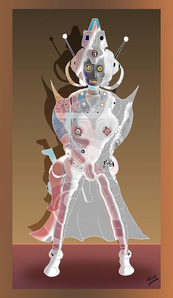 Cyberman Future Cop Cartoon by Grant Wilson