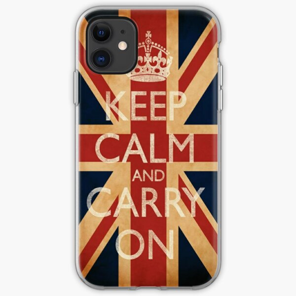 Keep Calm And Carry On. iPhone Soft Case