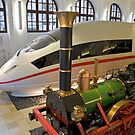 Adler & ICE 3 at DB Museum, Nuremberg, Germany.  by David A. L. Davies