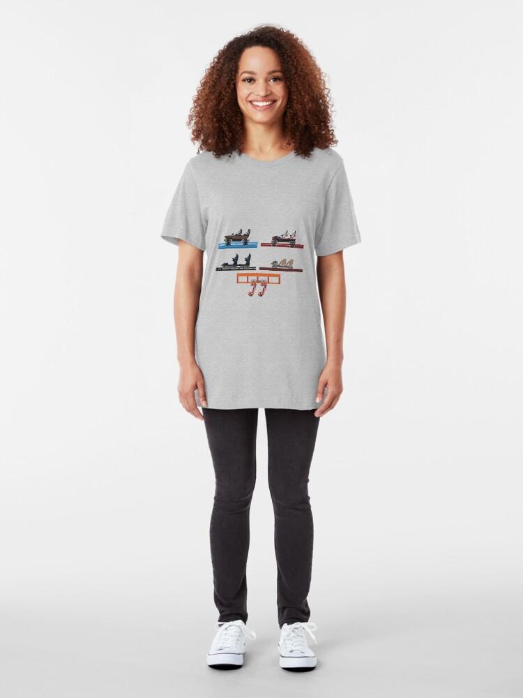 Alternate view of Energylandia Coaster Cars 2020 Slim Fit T-Shirt