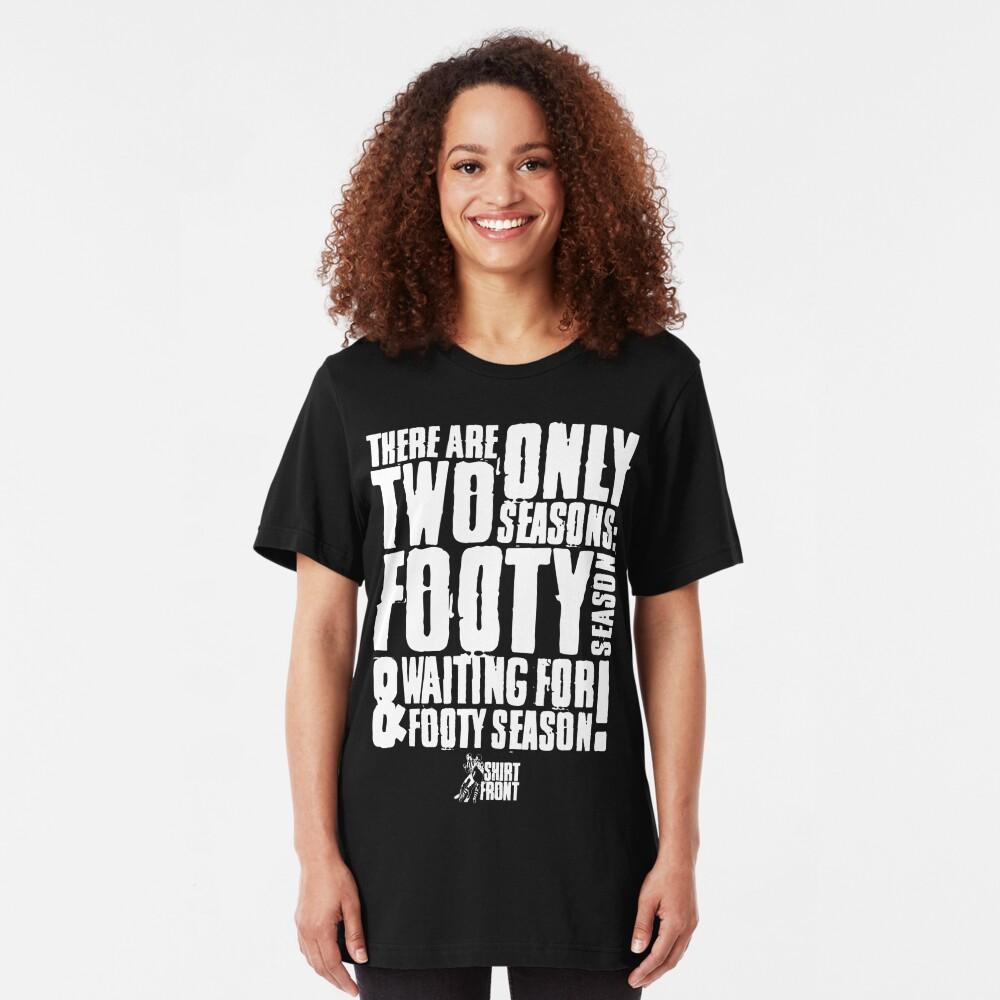 Two Seasons: White on Black Slim Fit T-Shirt