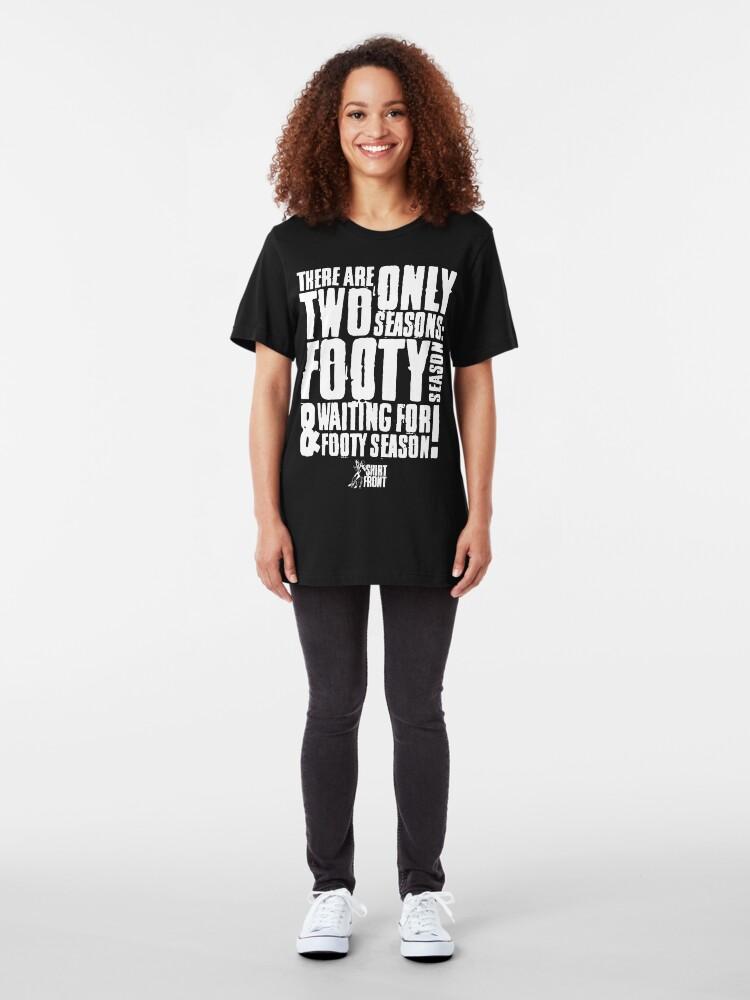 Alternate view of Two Seasons: White on Black Slim Fit T-Shirt