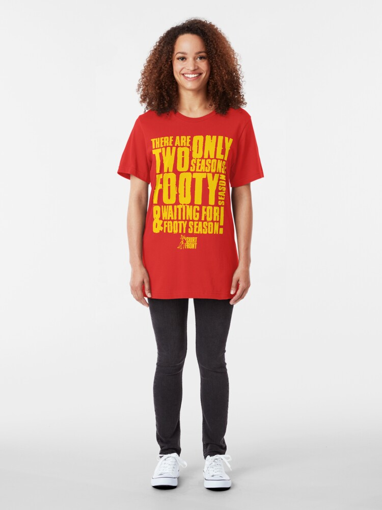 Alternate view of Two Seasons: Yellow on Red Slim Fit T-Shirt
