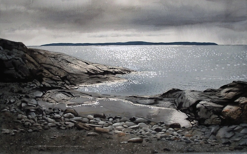 Rain at Jackfish Bay by Douglas Hunt