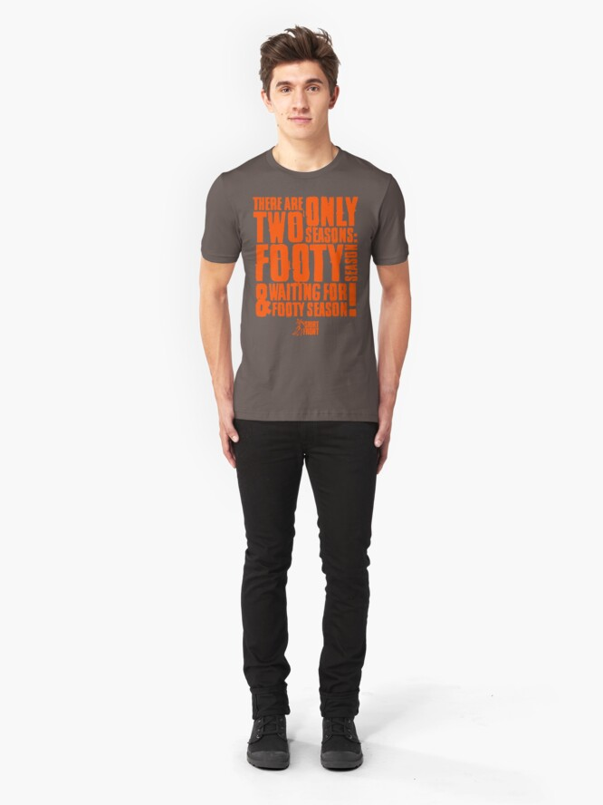 Alternate view of Two Seasons: Orange on Grey Slim Fit T-Shirt