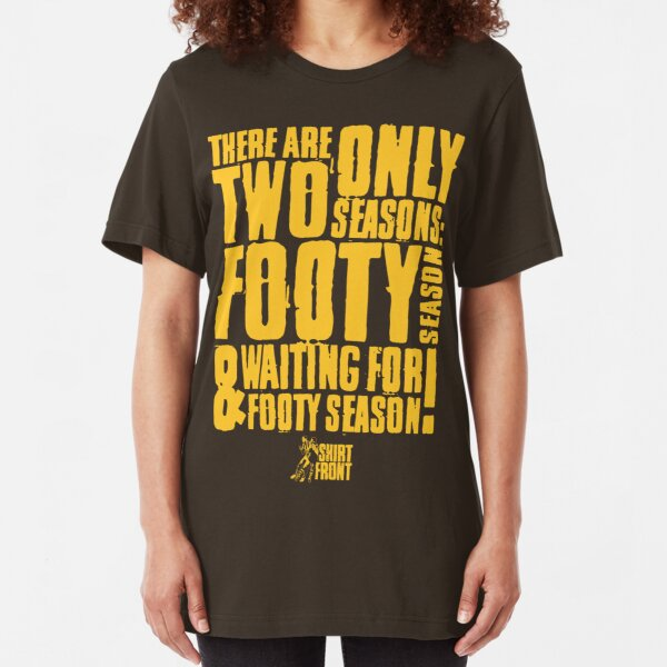 Two Seasons: Gold on Brown Slim Fit T-Shirt
