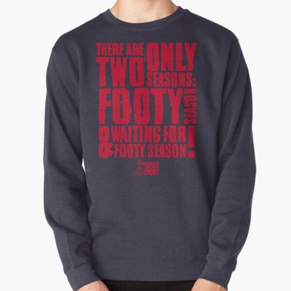 Two Seasons: Red on Navy Pullover Sweatshirt
