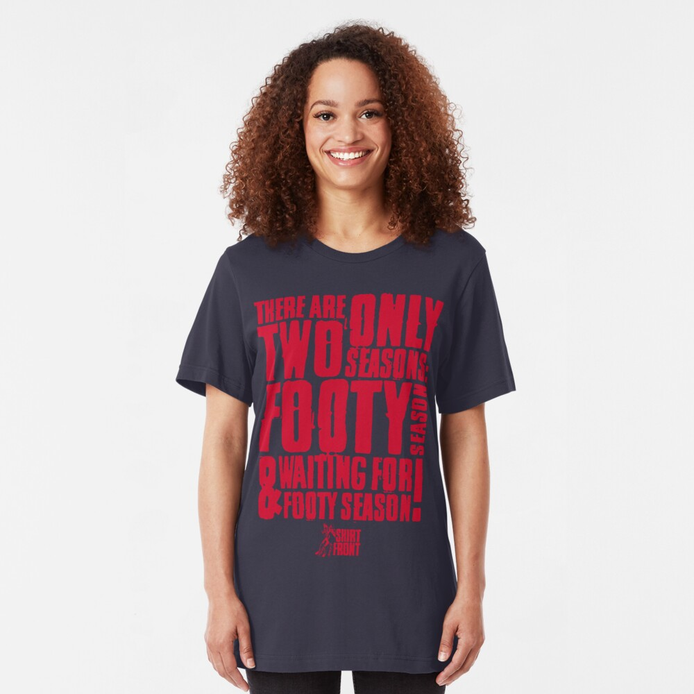 Two Seasons: Red on Navy Slim Fit T-Shirt