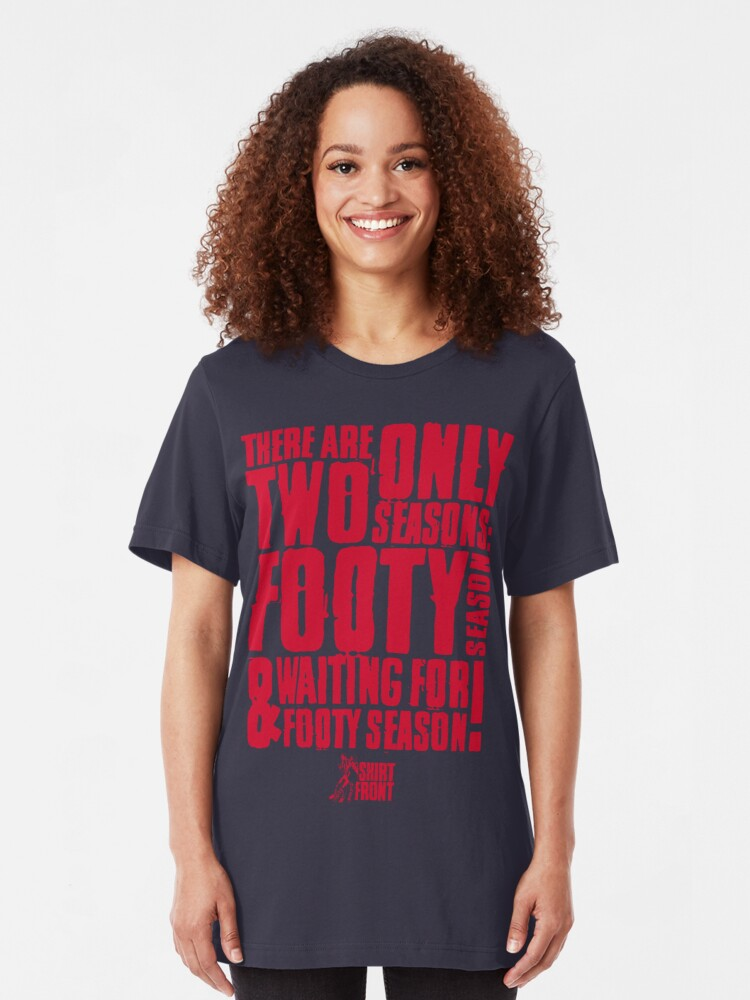 Alternate view of Two Seasons: Red on Navy Slim Fit T-Shirt
