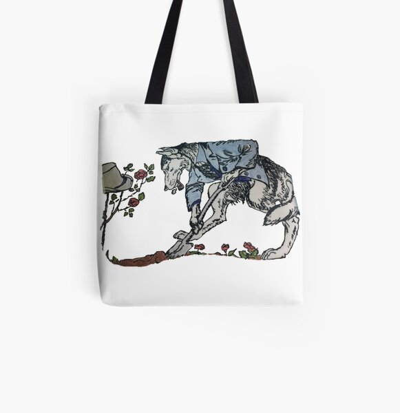 The Gravedigger Wolf All Over Print Tote Bag