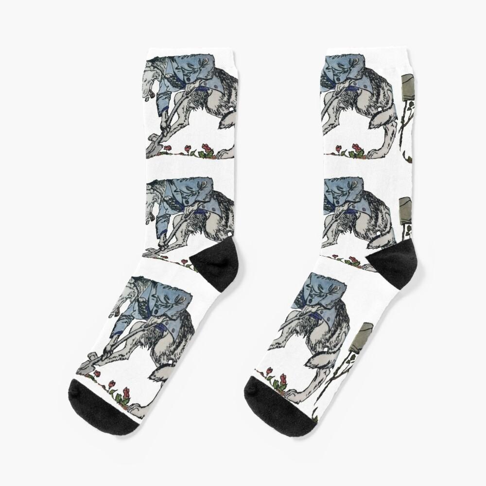 The Gravedigger Wolf Socks