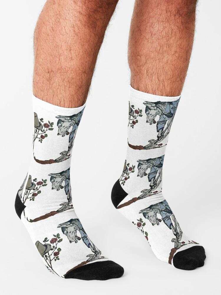 Alternate view of The Gravedigger Wolf Socks
