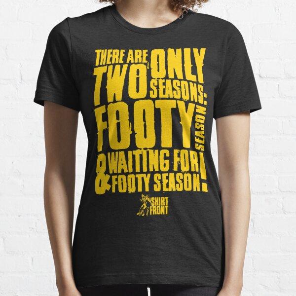 Two Seasons: Yellow on Black Essential T-Shirt