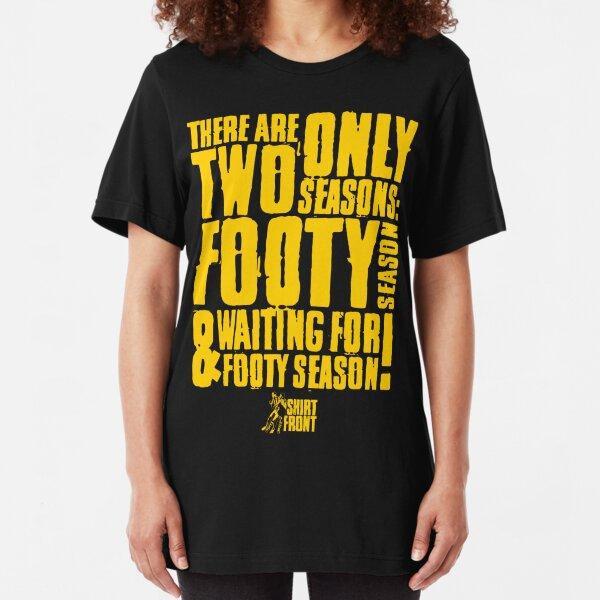Two Seasons: Yellow on Black Slim Fit T-Shirt