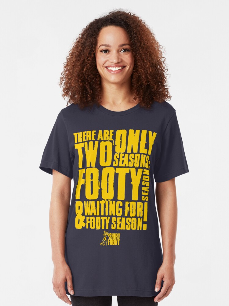 Alternate view of Two Seasons: Yellow on Navy Slim Fit T-Shirt