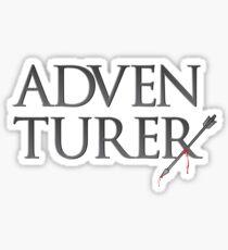 Adventurer no more. Sticker