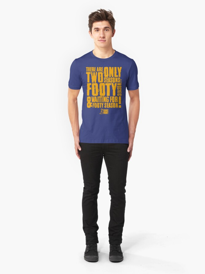 Alternate view of Two Seasons: Gold on Blue Slim Fit T-Shirt