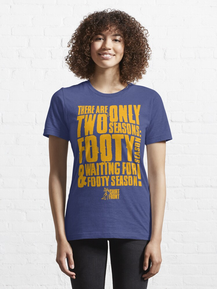 Alternate view of Two Seasons: Gold on Blue Essential T-Shirt