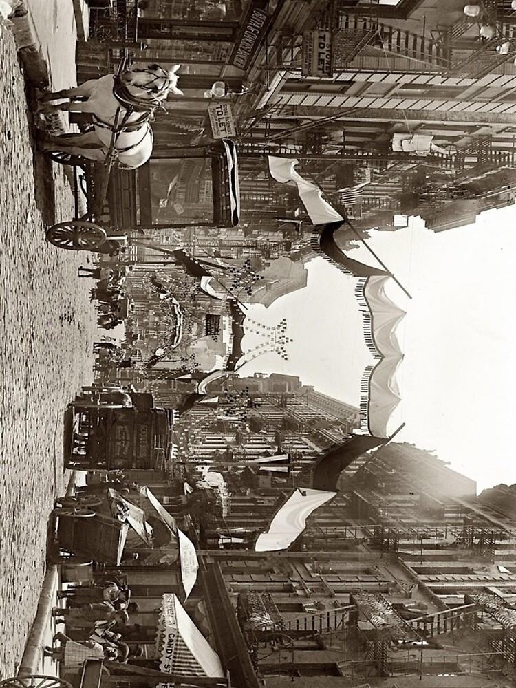 Little Italy Mott Street NYC Photograph (1908) de BravuraMedia