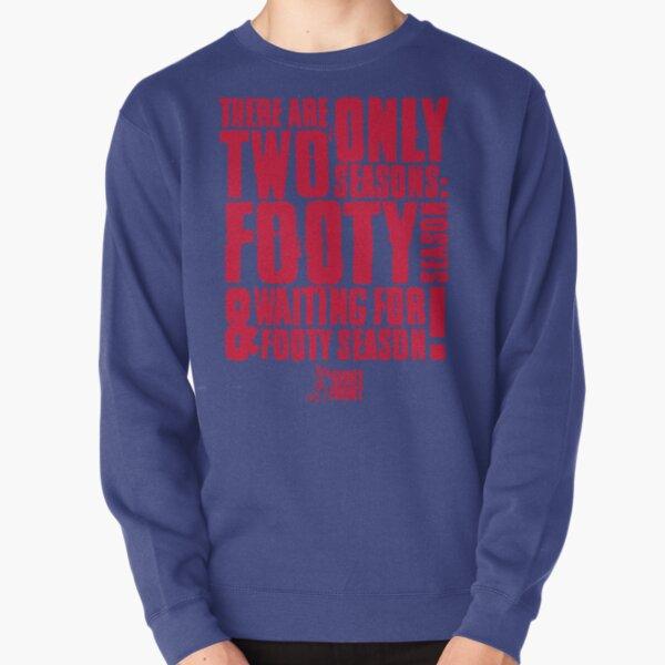 Two Seasons: Red on Blue Pullover Sweatshirt