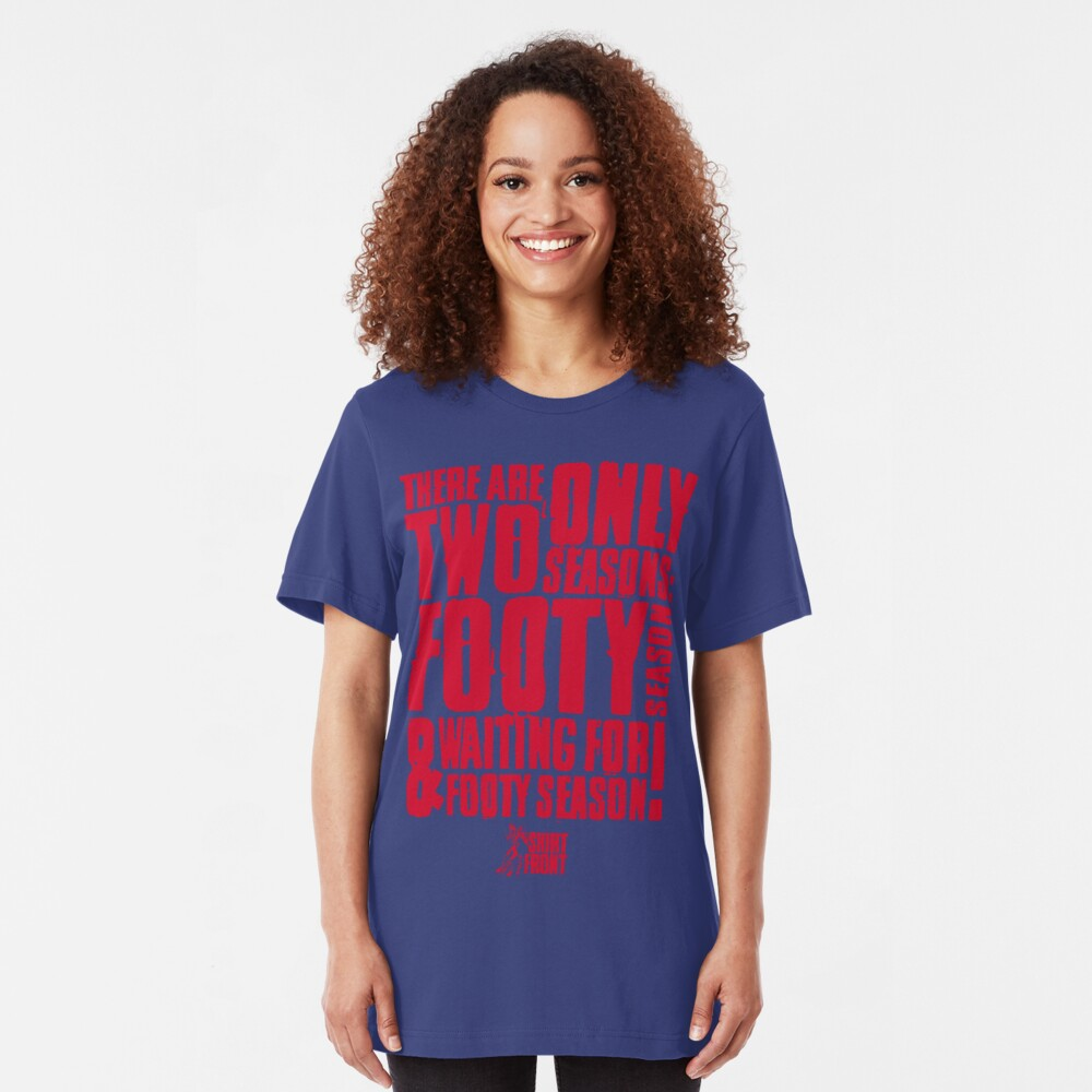 Two Seasons: Red on Blue Slim Fit T-Shirt