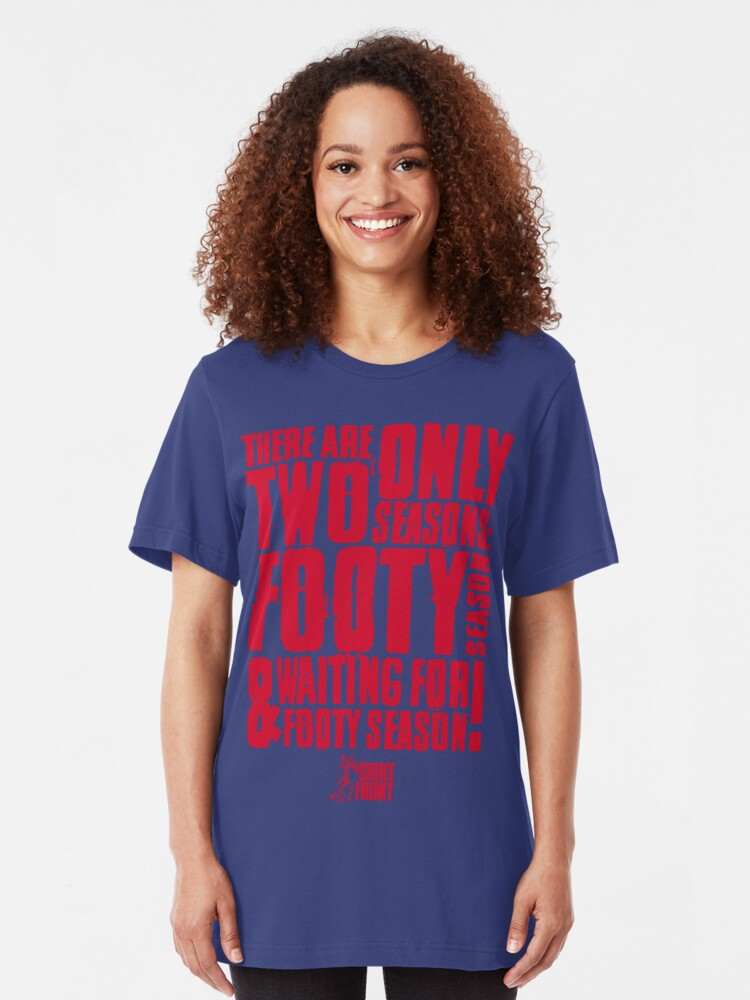 Alternate view of Two Seasons: Red on Blue Slim Fit T-Shirt