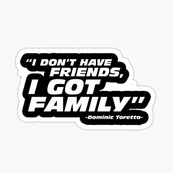 fast and furious quotes  Sticker
