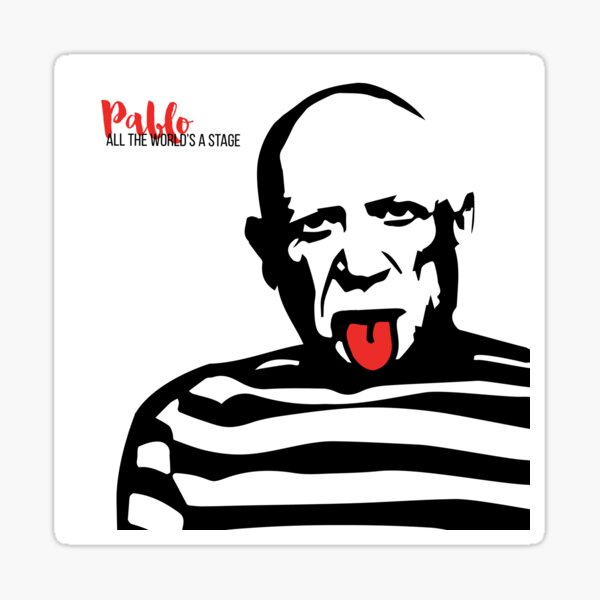 Pablo Picasso Tongue Art Sticker